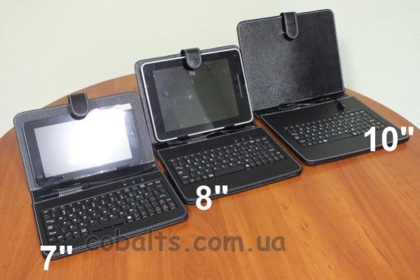 "Чехол-клавиатура для 7"" 8"" и 9,7"" планшета"
