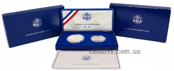 Набор монет США 100-летие Статуи Свободы