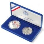 Набор монет США 1986 года посвященный 100-летию статуи свободы.