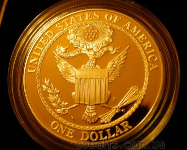 Реверс монеты это копия первой Большой Печати США