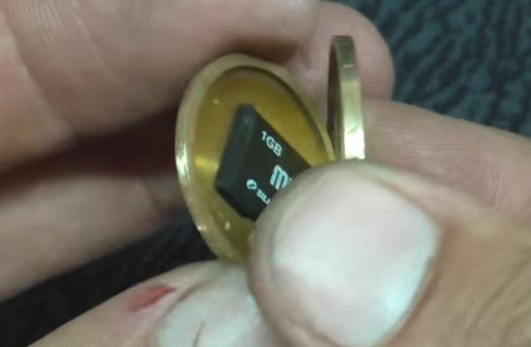 Тайник в монете 1 гривна