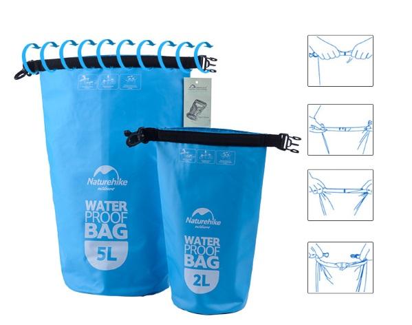Закрывается водонепроницаемая сумка