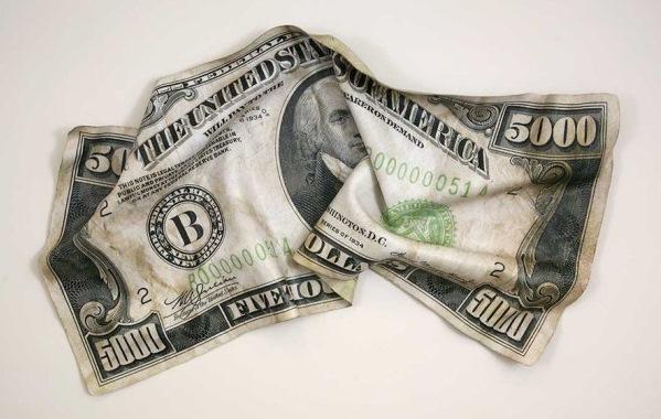 5000 долларов США с изображением 4-го президента Джеймса Мэдисона (James Madison)