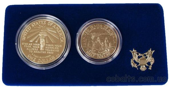 Серебряный доллар США 1986 года посвященный 100-летию статуи свободы